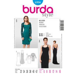 Schnittmuser, Burda Style, Ausschneiden, Stoff, zuschneiden, Abendkleid, Cocktailkleid, Partykleid