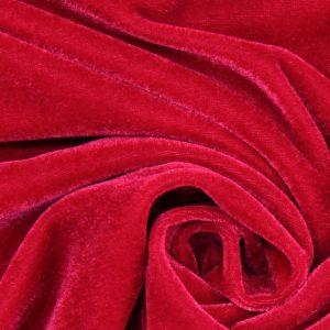 Samt, Stoff, Elasthan, Stretch, Samtstretch, Kleid, rotes Kleid, schneider, nähen, Schneiderpuppe, drapieren, Abendkleid